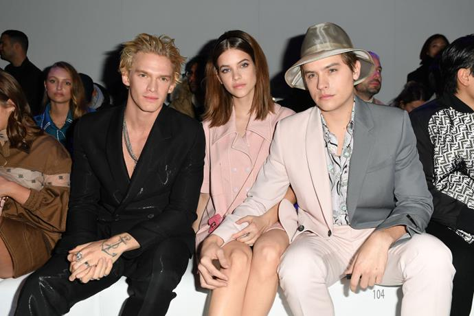 Cody Simpson, Barbara Palvin and Dylan Sprouse at Fendi.