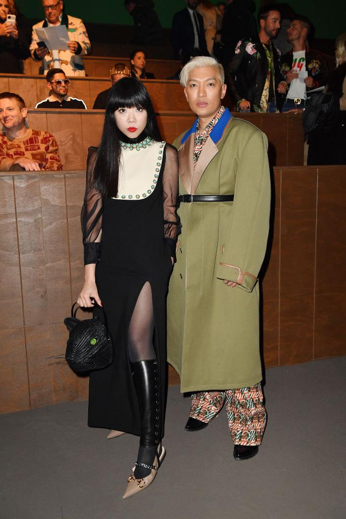 Susie Lau and Bryanboy at Gucci.