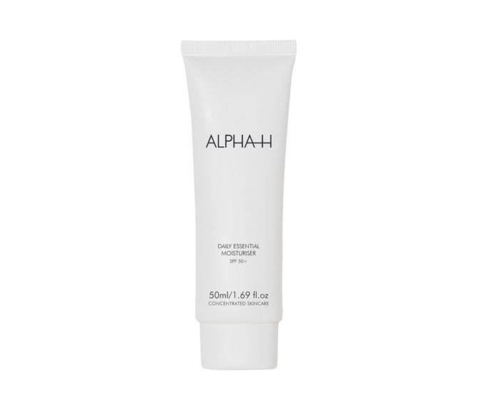 """**Daily Essential Moisturiser SPF50+ by Alpha-H, $50 at [Sephora](https://go.skimresources.com?id=105419X1569491&xs=1&url=https%3A%2F%2Fwww.sephora.com.au%2Fproducts%2Falpha-h-daily-essential-moisturiser-spf-50-plus-with-vitamin-e%2Fv%2F50-ml