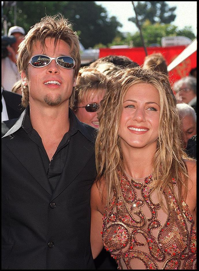 Aniston and Pitt in 1999.