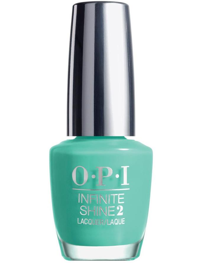 "**SOFT SEA BLUES**<br><br>  'Withstands the Test of Thyme' by OPI, $22.95 at [Myer](https://www.myer.com.au/p/withstands-the-test-of-thyme-291979000|target=""_blank""