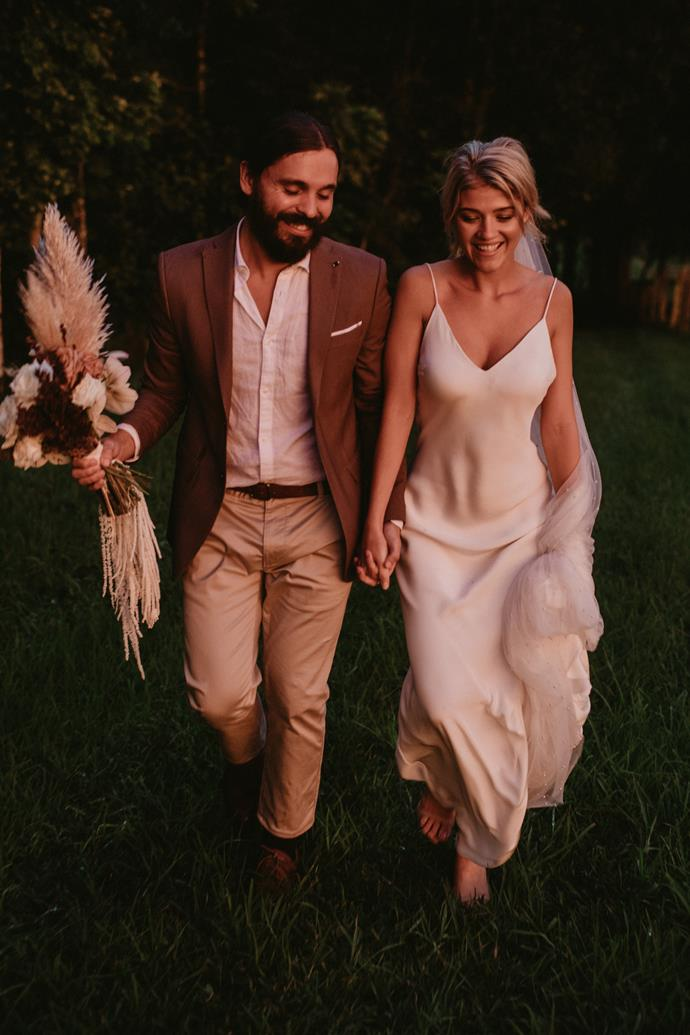**What did your husband wear?** Rumond wore a white linen shirt with a brown jacket (which was such an effort to find). I loved his undone look, it was very him. For the reception he wore the hat you'd find him in most days. What a babe!