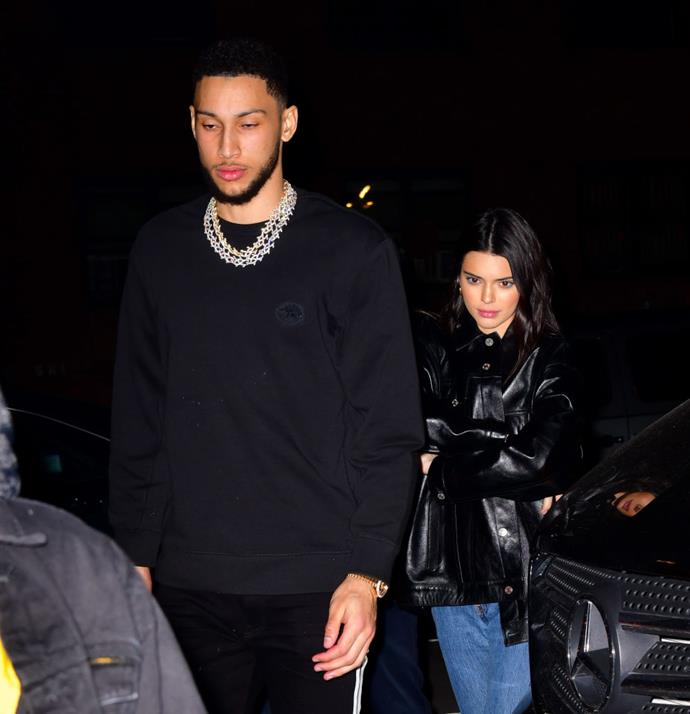 Simmons and Jenner photographed together in February 2019.