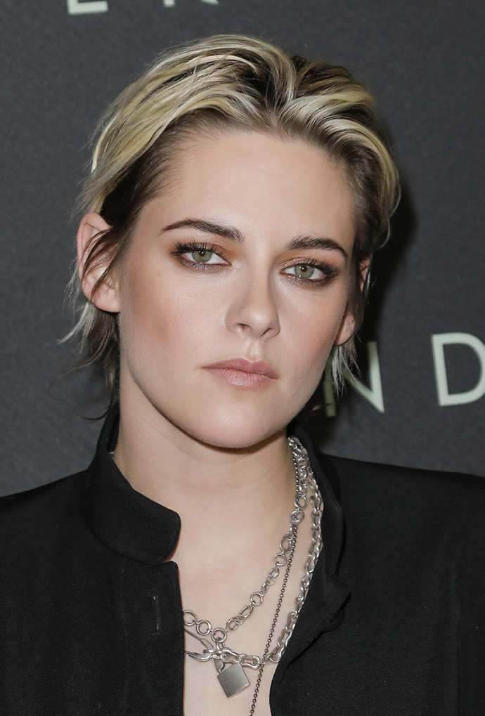 **Kristen Stewart**<br></br> Did Stewart's low-maintenance look just make Cruella de Vil vibes cool?