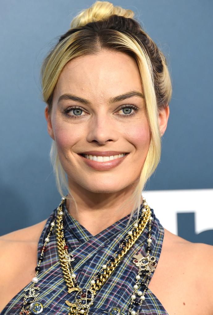 **Margot Robbie**<br></br> Robbie can do no wrong, and this choppy colour mix is no exception.