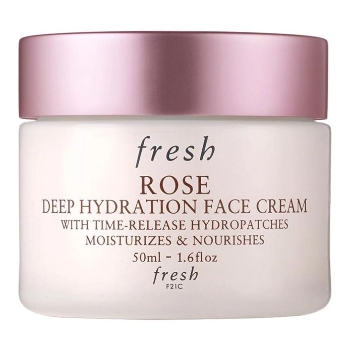 "**'Rose Deep' Hydration Face Cream by Fresh** <br><br> This rose-scented product, from Fresh's eternally dependable product line, will deeply hydrate your skin, and is best used for a before-bed skin pick-me-up. <br><br> *$59 for 50mL, available at [Sephora](https://fave.co/2RQSMPQ|target=""_blank""