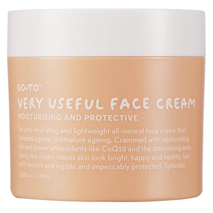 "**'Very Useful' Face Cream by Go-To** <br><br> Founded by Zoë Foster-Blake, this scented moisturiser is as dependable as they come, and will work wonders for moisture-free, dry skin types. Like The Ordinary's 'Natural Moisturising Factors', this product will also likely work on intermediately dry skin types, and sensitive ones. <br><br> *$72 for 100mL, available at [Go-To](https://fave.co/38KZldu|target=""_blank""