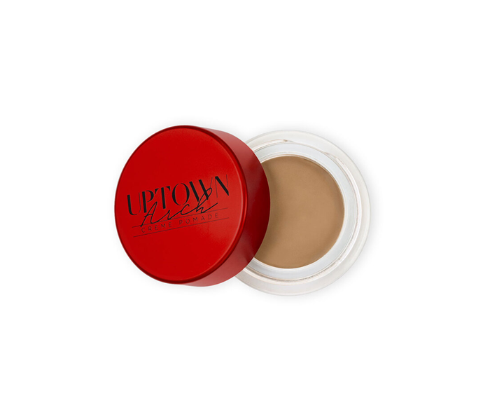 """**Creme Pomade by Uptown Brows, $32 by [Model Rock Lashes](https://www.modelrocklashes.com/products/uptown-brows-brow-pomade-blondie?gclid=CjwKCAiA1L_xBRA2EiwAgcLKA7ig1NZPF9kawFOrOv_Gf803fAFgqfBp6NyuAS0M5l5CRP224eeOpBoC0pIQAvD_BwE