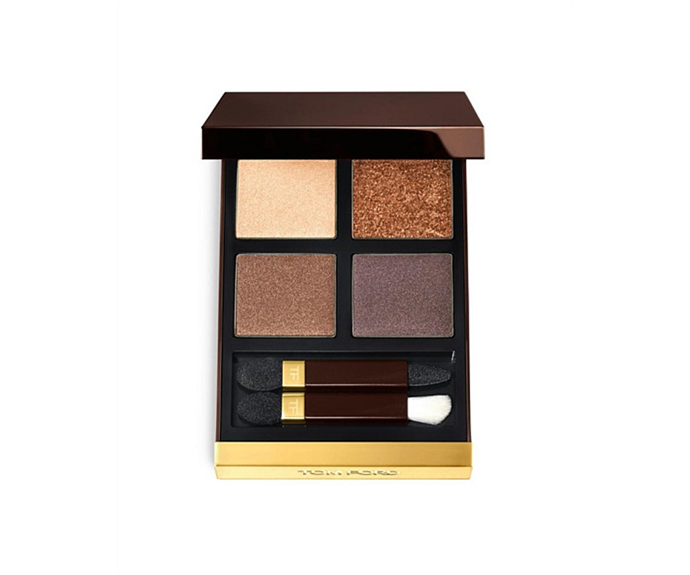 "**Eye Color Quad in Cognac Sable by Tom Ford, $128 at [David Jones](https://www.davidjones.com/beauty/eyes/eyeshadow/20315122/Eye-Color-Quad.html|target=""_blank"")**<br> An everyday option for those partial to a little shimmer."