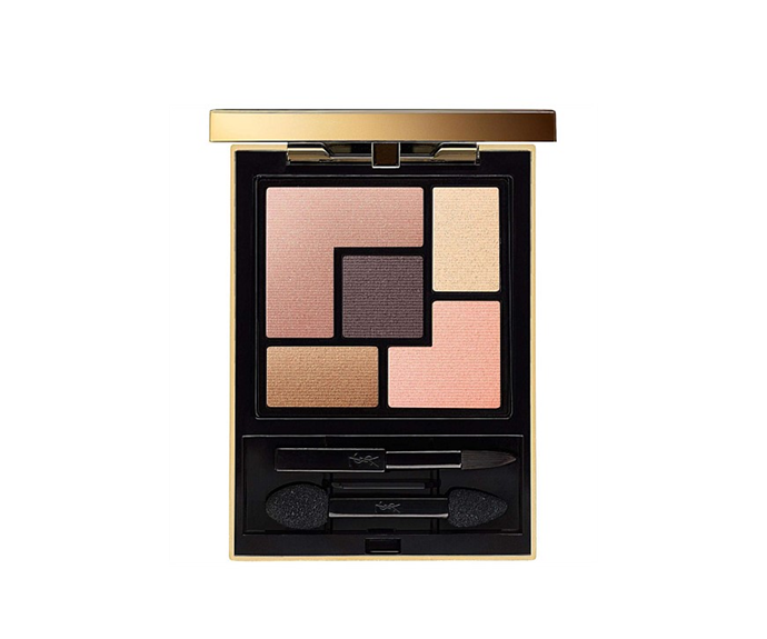 "**Couture Palette in Afrique by Yves Saint Laurent, $105 at [David Jones](https://www.davidjones.com/beauty/eyes/eyeshadow/20667838/Couture-Palette.html|target=""_blank"")**<br> Not quite matte, not quite metallic, merely the *perfect* pearlescent finish."