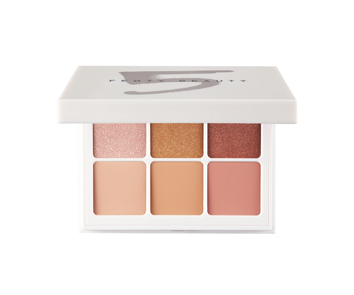 "**Snap Shadows Eyeshadow Palette in Peach by Fenty Beauty, $39 at [Sephora](https://www.sephora.com.au/products/fenty-beauty-snap-shadows-eyeshadow-palette/v/peach|target=""_blank"")**<br> A peach-toned palette that fits in the palm of your hand."