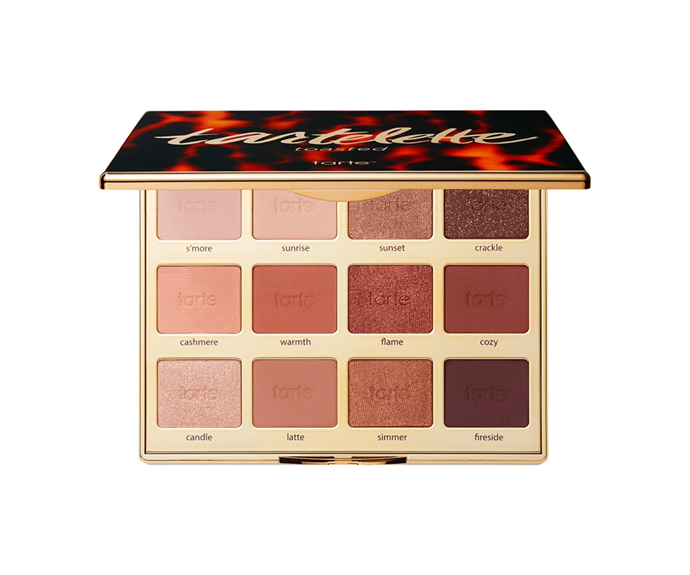 "**Toasted Eyeshadow Palette by Tarte, $60 at [Sephora](https://www.sephora.com.au/products/tarte-toasted-eyeshadow-palette/v/default|target=""_blank"")**<br> Rich neutrals as warm as their namesakes (latte, s'more, et. al)."