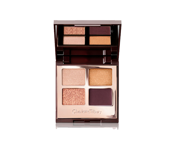 "**Luxury Palette in Queen of Glow, $80 by [Charlotte Tilbury](https://www.charlottetilbury.com/au/product/luxury-palette-the-queen-of-glow|target=""_blank"")**<br> Subtlety not your strongsuit? Go for gilded sunset golds."