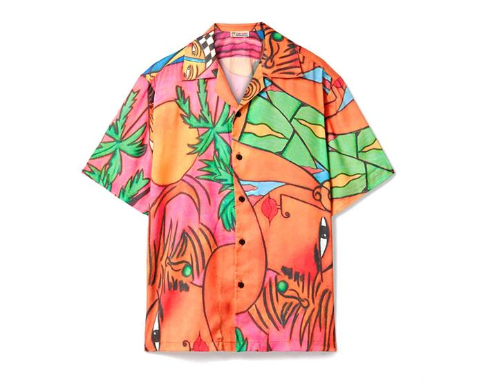 """**Printed crepe de chine shirt by Esteban Cortázar, $300.04 at [Net-a-Porter](https://www.net-a-porter.com/au/en/product/1229910