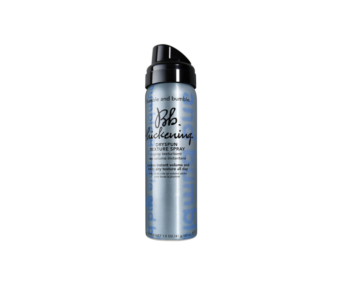 """**Dry Spun Texture Spray by Bumble and Bumble, $21 at [MECCA](https://www.mecca.com.au/bumble-and-bumble/dry-spun-texture-spray/V-016382.html?cgpath=hair-styling