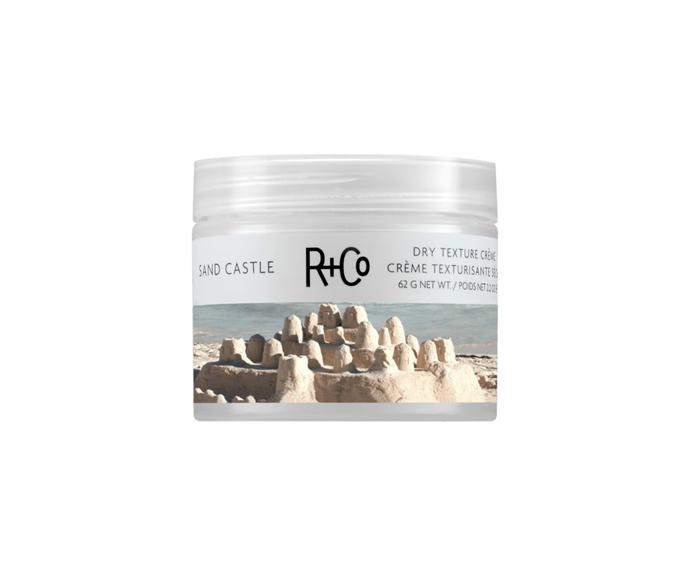 "**Sand Castle Dry Texture Creme by R+Co, $42 at [Adore Beauty](https://www.adorebeauty.com.au/r-and-co/r-co-sand-castle-dry-texture-creme.html?istCompanyId=6e5a22db-9648-4be9-b321-72cfbea93443&istFeedId=686e45b5-4634-450f-baaf-c93acecca972&istItemId=wmptxpmxm&istBid=tztx&gclid=CjwKCAiA98TxBRBtEiwAVRLqu5Q46Mphx_QC3Zj581ZJMgUS-KBxQOQ3vm3U2SJwdE7n4U5cC_riHxoCUhsQAvD_BwE|target=""_blank"")**<br> A clever cream-to-powder blend that soaks up any oil while delivering that 'just stepped off the sand' look."
