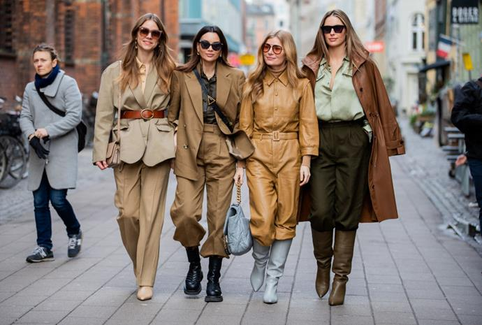 ***1. Pastels are out, and neutrals are in*** <br><br> In the past, the street style offerings at Copenhagen Fashion Week have been known to feature plenty of soft, pastel hues, but the attendees at autumn '20 proved neutrals are always on-trend—and have a much longer shelf life in your wardrobe.