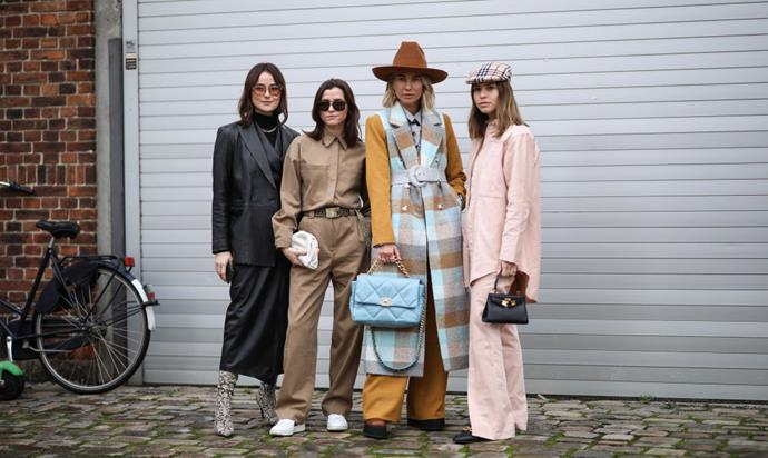 ***2. The more oversized, the better*** <br><br> Bar a few exceptions, the vast majority of It-girls in attendance at the Copenhagen shows donned baggy coats, trousers and skirts, as well as padded, plush accessories, and hats for every occasion.