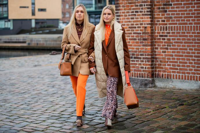 ***3. Don't donate your brightly-coloured garments just yet*** <br><br> Still, if you're not inclined to leave the house wearing every colour of the rainbow, take a leaf out of the Scandi It-girls' book by adding a pop of colour to your neutral pieces (using the above image as an example).