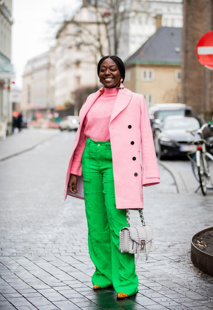 ***3. Don't donate your brightly-coloured garments just yet*** <br><br> Before you sell or donate your brightly-coloured wardrobe accessories in favour of monochromatic styles, you might want to re-assess, and keep a few pieces that pep up your closet for a grey day.