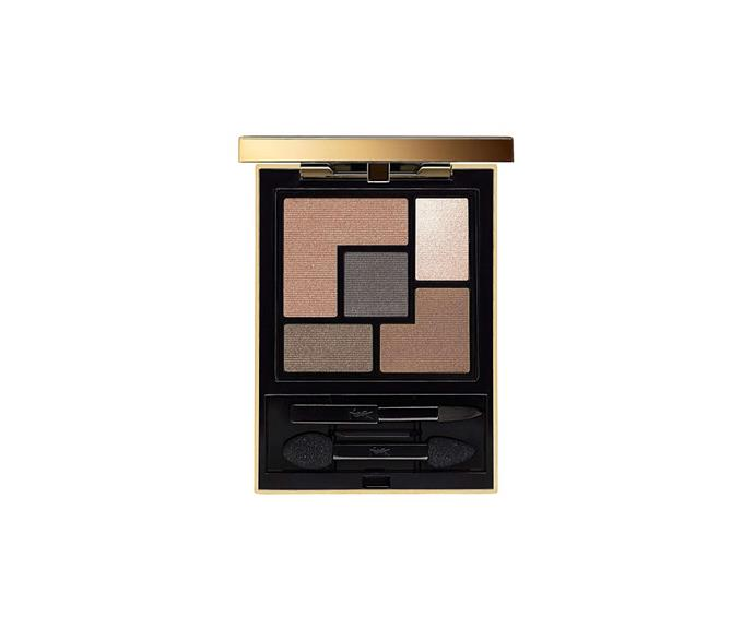 "**Couture Palette in Fauve by Yves Saint Laurent, $105 at [David Jones](https://www.davidjones.com/beauty/eyes/eyeshadow/20667838/Couture-Palette.html|target=""_blank"")**<br> An ultra-chic fawn brown roundup in the perfect pocket-sized palette."