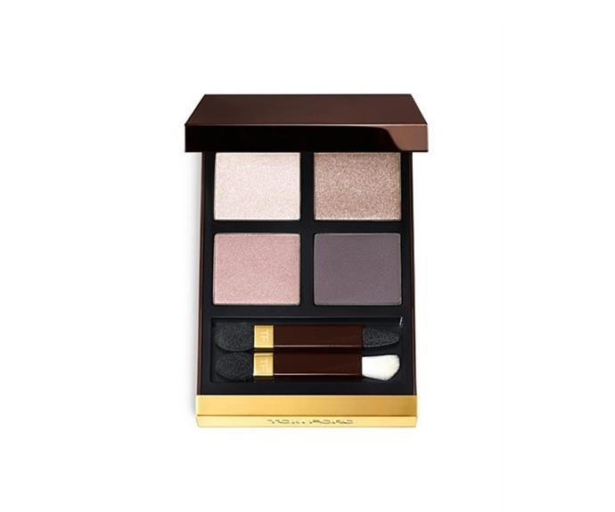 "**Eye Color Quad in Orchid Haze by Tom Ford, $122 at [David Jones](https://www.davidjones.com/beauty/eyes/eyeshadow/20315122/Eye-Color-Quad.html|target=""_blank"")**<br> Sparkle, satin, shimmer and matte, all of the mauve-meets-nude variety."