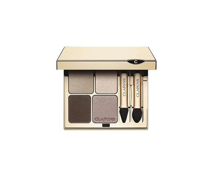 "**Eye Quartet Minerale Eyeshadow - Skintones #013 by Clarins, $68 at [David Jones](https://www.davidjones.com/beauty/eyes/eyeshadow/20697102/Eye-Quartet-Minerale-Eyeshadow---Skintones-~013.html|target=""_blank"")**<br> The eyeshadow equivalent of coffee with a side of cream."