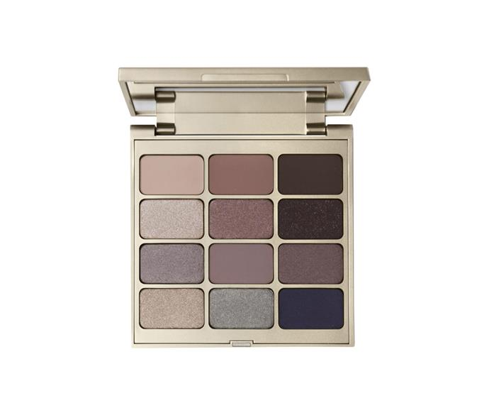 "**Eyes Are The Window Shadow Palette in Soul by Stila, $75 at [MECCA](https://www.mecca.com.au/stila/eyes-are-the-window-shadow-palette/V-035667.html|target=""_blank"")**<br> An edit of ashy browns and elephant greys with subtle hints of shimmer."