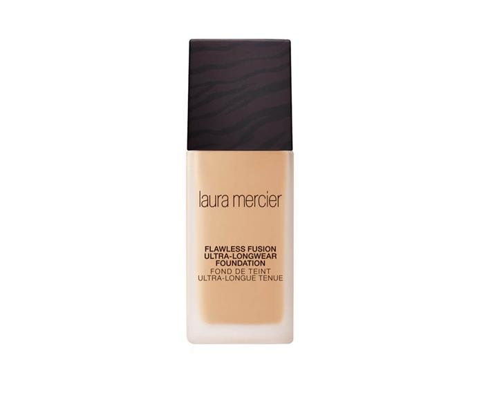 "**Flawless Fusion Ultra-Longwear Foundation by Laura Mercier, $73 at [MECCA](https://www.mecca.com.au/laura-mercier/flawless-fusion-ultra-longwear-foundation-2n2-linen/I-037002.html|target=""_blank"")**<br> If sweaty skin is the issue, this medium-coverage mattifying base is the solution. Working to control shine without leaving your face looking dull or feeling dry, it's as comfortable as it is competent."