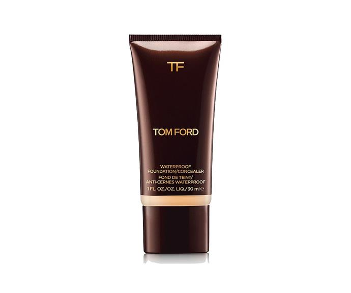 "**Full Coverage Waterproof Concealer And Foundation by Tom Ford, $122 at [David Jones](https://www.davidjones.com/beauty/face-and-complexion/foundation/20774695/Full-Coverage-Waterproof-Concealer-and-Foundation.html|target=""_blank"")**<br> If it's full but glowy coverage you're after, this luminous long-wearing foundation-concealer hybrid is *perfect*. The texture melts into skin, but it won't melt off your face—you can thank the waterproof status for that."