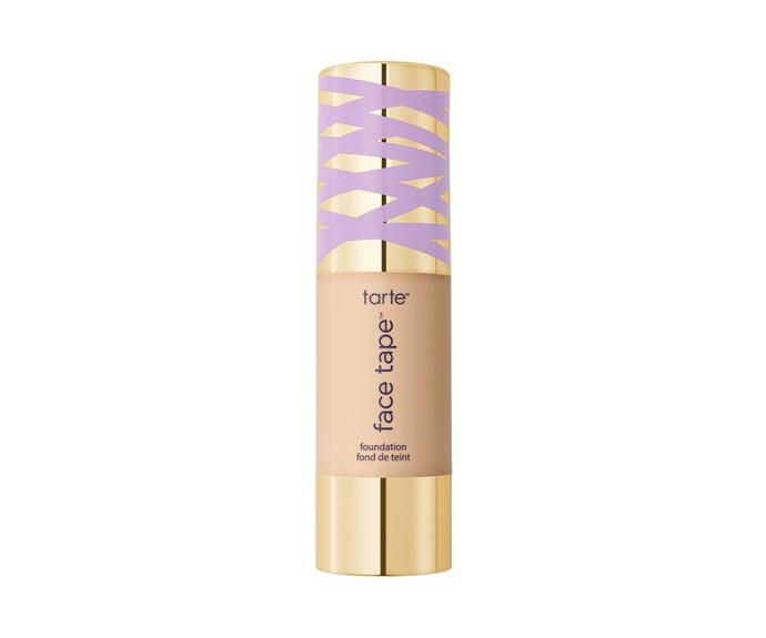"**Face Tape Foundation by Tarte, $60 at [Sephora](https://www.sephora.com.au/products/tarte-face-tape-foundation/v/15s-fair-light-sand|target=""_blank"")**<br> Created to support the cult-favourite concealer of the same name, this base is packed with hydrators (apple fruit extract and hyaluronic acid to name a few), but the finish is a long-lasting natural matte."
