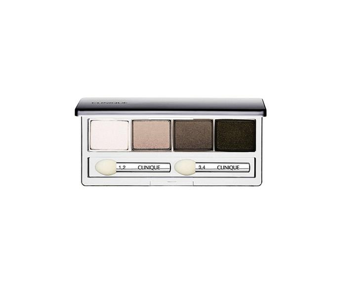 "**AA Shadow Quad in Jenna's Essentials by Clinique, $60 at [David Jones](https://www.davidjones.com/beauty/eyes/eyeshadow/20699587/AA-Shadow-Quad.html|target=""_blank"")**<br> Consider your everyday cool-toned smoky eye covered."