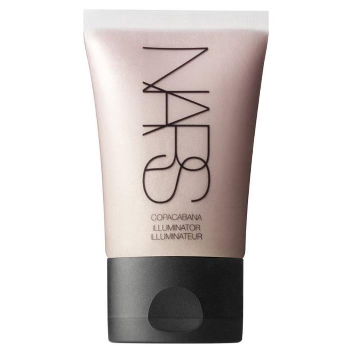 "Nars Illuminator in Copacabana, $46 at [MECCA](https://www.mecca.com.au/nars/illuminator/V-011088.html?cgpath=makeup-complexion-illuminator target=""_blank"" rel=""nofollow"")"