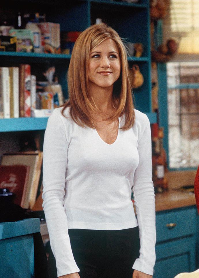"""**AQUARIUS: Rachel Green from** ***Friends***<br><br>  There's no doubt that Rachel Green had 'It'-girl qualities in spades (amazing hair, [fashion sense](https://www.elle.com.au/news/the-best-of-rachel-green-from-friends-fashion-9862