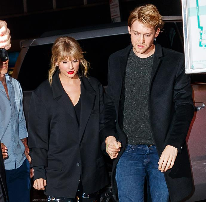 Swift and (maybe) fiancé Joe Alwyn in 2019 Image: Getty