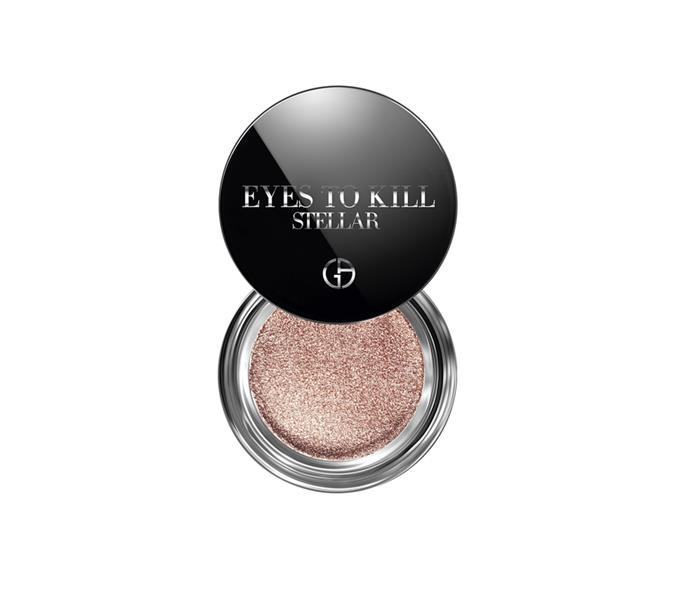 "**The shade: Rose gold<br> Eyes To Kill Stellar by Giorgio Armani, $59 at [David Jones](https://www.davidjones.com//22180222/Eyes-to-Kill-Stellar.html|target=""_blank"")**<br> Brown-eyed girls, meet your failsafe metallic. Far enough from the brown family to avoid falling flat, but not close enough to pink territory to classify as colour, rose gold hues packed with shimmer are well equipped to take on the role of your everyday option."
