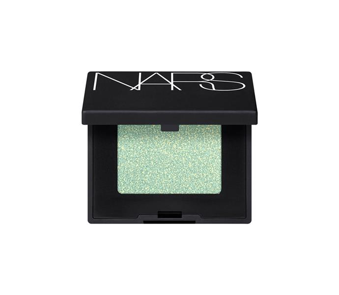 "**The shade: Mint<br> Hardwired Eyeshadow in Ecstasy by NARS, $34 at [MECCA](https://www.mecca.com.au/nars/hardwired-eyeshadow/V-033381.html?cgpath=makeup-eyes-eyeshadow|target=""_blank"")**<br> Down to experiment with pastels? Mint is the place to start. Not only will aqua on eyes counteract any redness or discolouration around the area, but its cool-toned nature will also enhance the multifaceted depth of your brown blend."