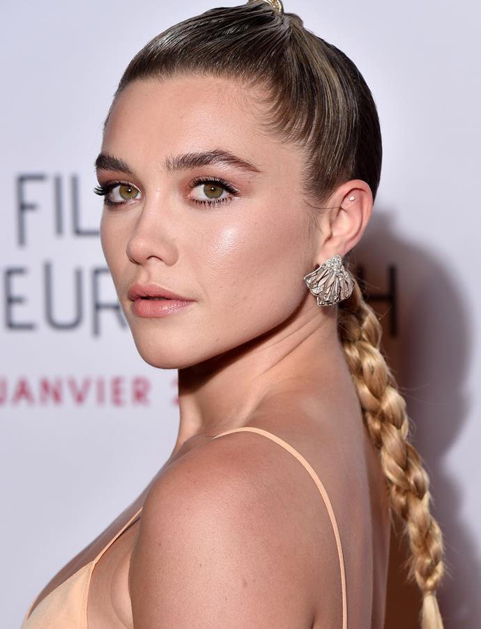 *Getty Images*<br> The brows are good and the skin is great, but the braid is *amazing*.