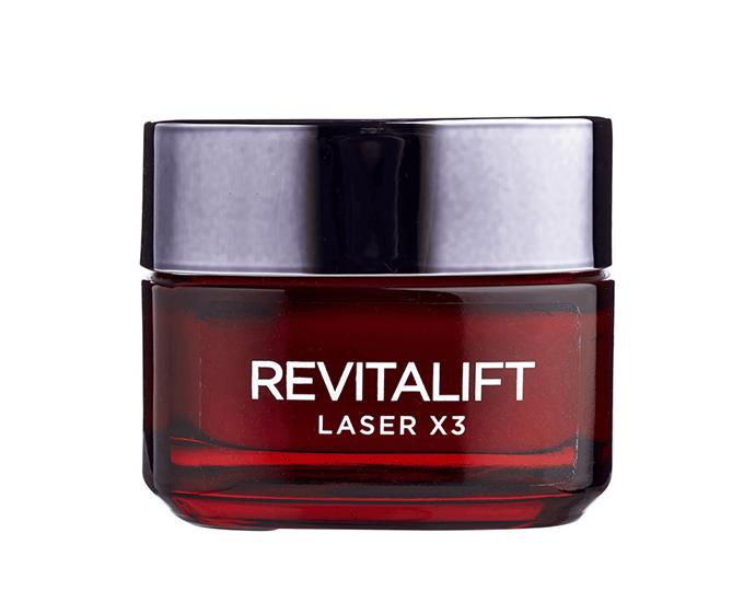 """**Revitalift Laser x3 Moisturiser by L'Oreal Paris, $44.99 at [Priceline Pharmacy](https://www.priceline.com.au/l-oreal-paris-revitalift-laser-x3-anti-ageing-power-moisturiser-50-ml