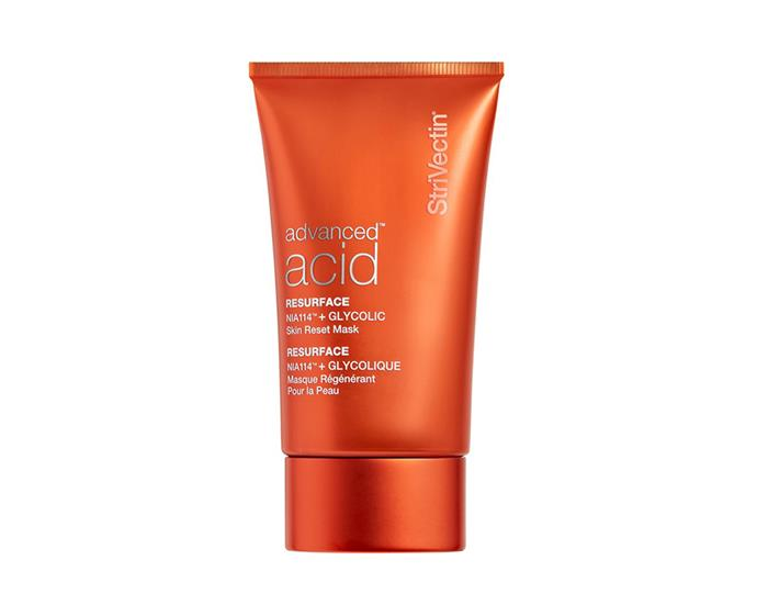 """**Glycolic Skin Reset Mask by StriVectin, $92 at [Priceline Pharmacy](https://www.priceline.com.au/skincare/face-care/facial-masks-and-peels/strivectin-glycolic-skin-reset-mask-50-ml