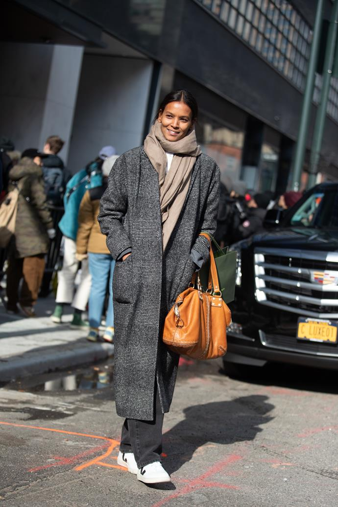 Liya Kebede at New York Fashion Week AW'20 Image: Getty