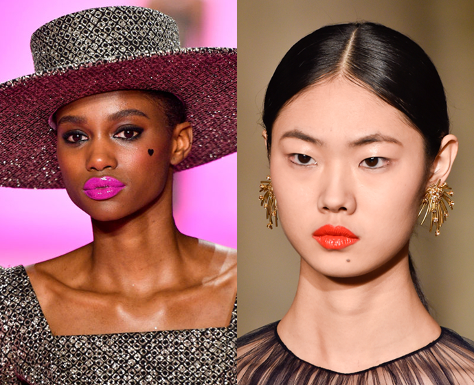 **The trend: Neon lacquer<br> Who did it: Christian Siriano and Christopher John Rogers**<br> The high-shine lacquer finishes at Christian Siriano and Christopher John Rogers breathed new life into neons. As for the shades of the season, fluorescent fuchsia and vivid tangerine reigned supreme.