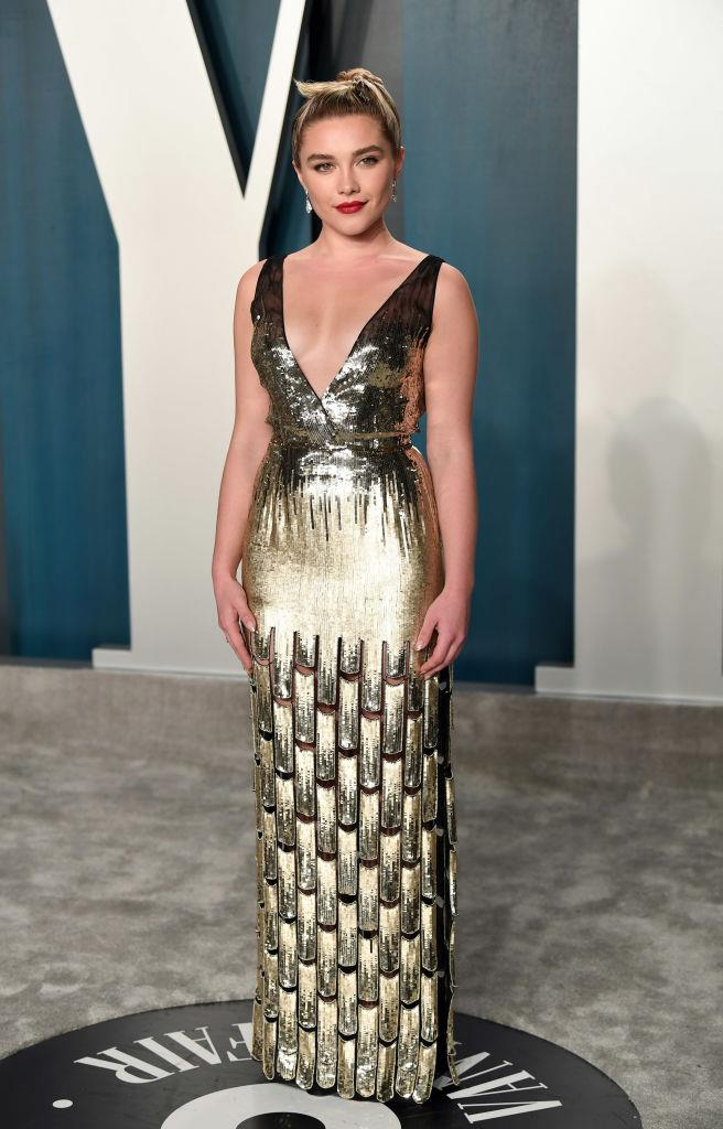"In custom Louis Vuitton at the [*Vanity Fair* Oscar Party](http://www.czovht.tw/fashion/oscars-2020-after-party-23016|target=""_blank"") in February 2020. <br><br> *Image: Getty*"