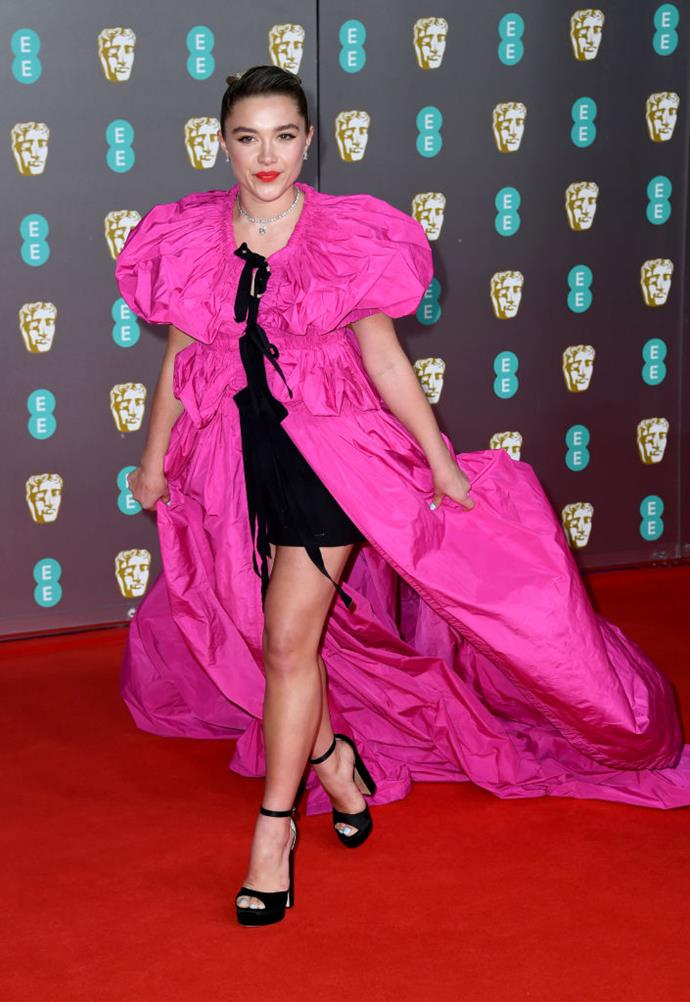 "In Dries van Noten x Christian Lacroix at the [BAFTAs](http://www.czovht.tw/fashion/baftas-2020-red-carpet-22976|target=""_blank""