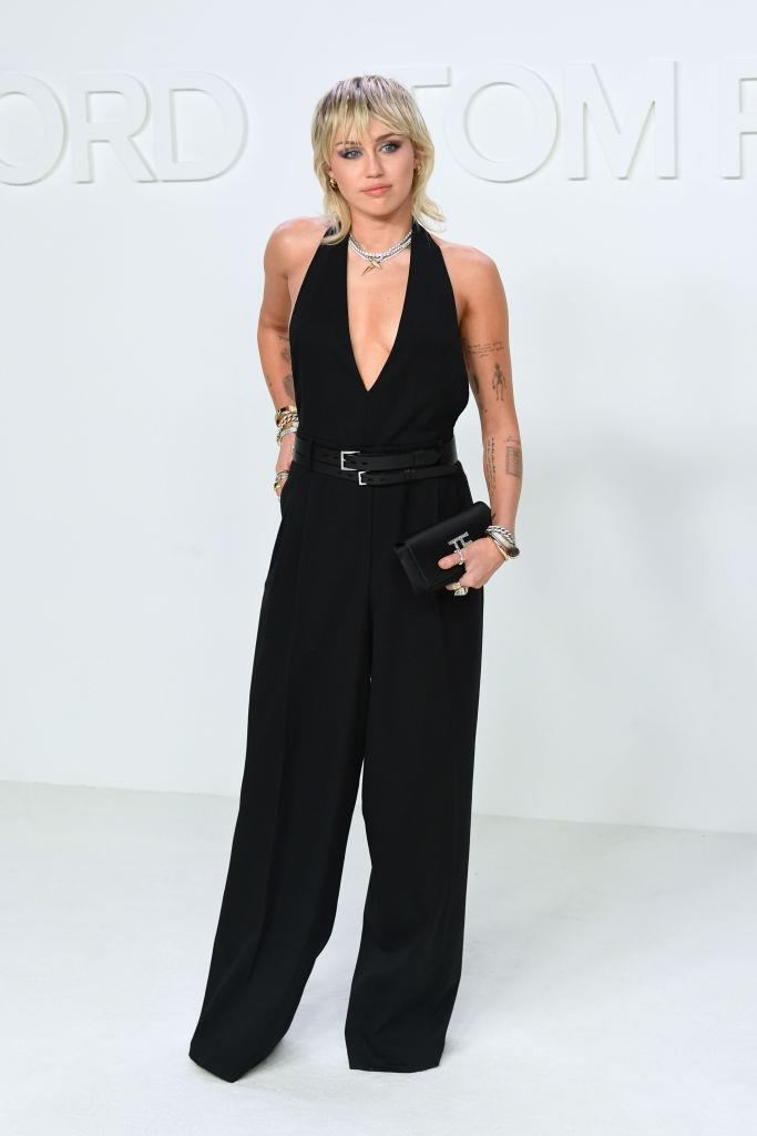 Cyrus at Tom Ford's autumn/winter '20 show in L.A. on February 7, 2020.
