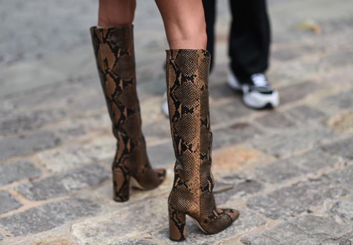 **Snakeskin Boots**<br><br>