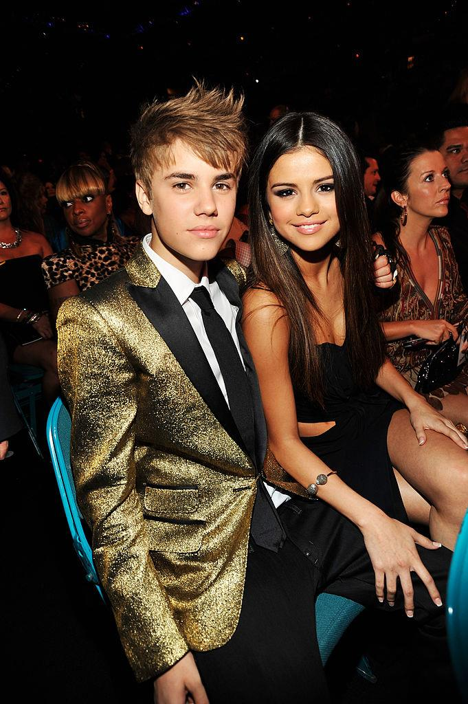 Bieber and Gomez at the Billboard Music Awards in 2011.