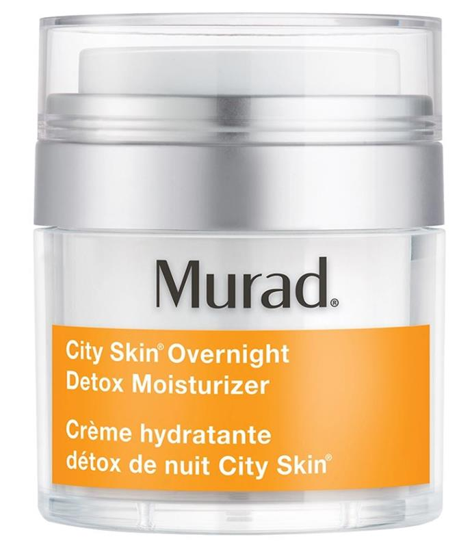 """**'City Skin Overnight Detox Moisturiser' by Murad, $115 at [Sephora](https://fave.co/2HAeanU target=""""_blank"""" rel=""""nofollow"""")** <br><br> Specifically targeted towards 'City Skin' (i.e. skin that's susceptible to damage from urban environments, as well as damage caused by blue light from computer screens), this cream from Murad is helpful in minimising and detoxing overexposed skin."""