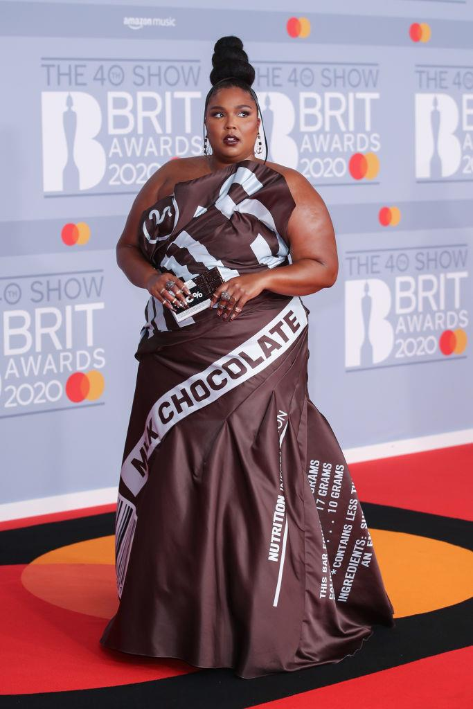 Lizzo attends The BRIT Awards 2020 at The O2 Arena on February 18, 2020 in London, England.