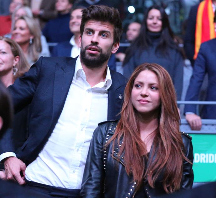 "**Shakira and Gerard Piqué**<br><br>  **Age difference:** 10 years<br><br>  International superstar [Shakira](https://www.harpersbazaar.com.au/health-fitness/shakira-diet-exercise-19867|target=""_blank""), 43, and her soccer champion partner Gerard Piqué, 33, began dating in 2010, after meeting on the set of her ""Waka Waka"" music video. They have two sons together, Milan, 6 and Sasha, 4, and incidentally both share the same birthday, February 2 (10 years apart, obviously).<br><br>  In a 2013 interview with [*ELLE* U.S.](https://www.elle.com/culture/celebrities/g8822/shakira-quotes-fashion-photos/?slide=1